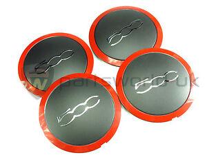 Neuf v/éritable Fiat 500//& Punto Abarth Centre de Roue en Alliage Cap//Trim X1/51820507