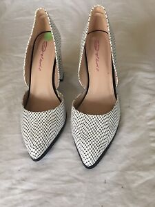 Dolcis-Women-Black-White-Leather-Shoes-Size-7-G24