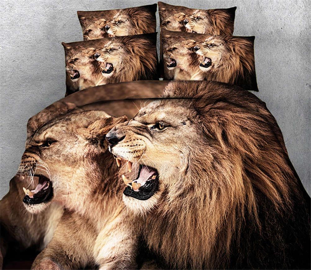 Crazy Former Tiger 3D Printing Duvet Quilt Doona Covers Pillow Case Bedding Sets