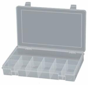 Small Plastic 13 Compartment Box (Clear) - Durham - Each