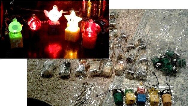 NEW Glow Glow Glow light up Super Mario Bros World U wii Figures 30 pc Set Gift Toy hangup b68d8f