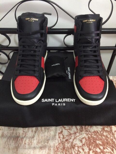 Saint Laurent Sl10h Red Black SNEAKERS