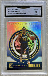 DONOVAN-MITCHELL-2017-Essential-Rookies-39-Graded-Mint-9-Rookie-Utah-Jazz-RC