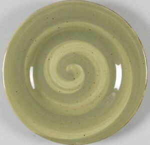 3-X-Hausenware-Sage-Green-Twist-Swirl-Salad-Plates-Retired