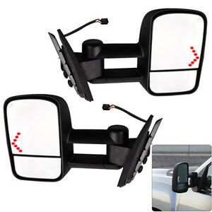 Pair-Power-LED-Signal-Towing-Mirrors-for-07-13-Chevy-Silverado-1500-2500-2500HD