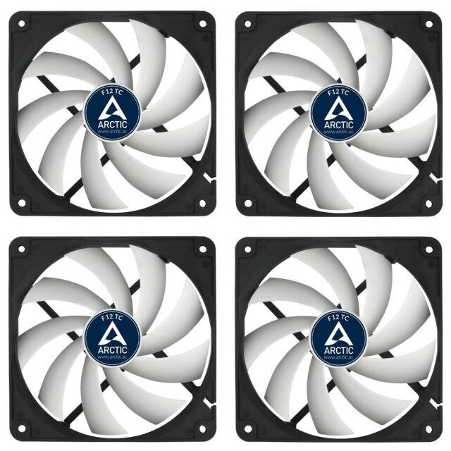 4e Set * Arctic * F12 TC 120 x 120 x 25 mm * temperaturgesteuerter Gehäuselüfter