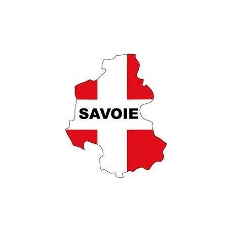 Autocollant Savoie Blason sticker adhesif carte plan 8 cm
