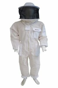 3 Couche Pleine Ventilation Apiculture Qualité Premium Bee Costume/round Capuche/taille Xl-afficher Le Titre D'origine