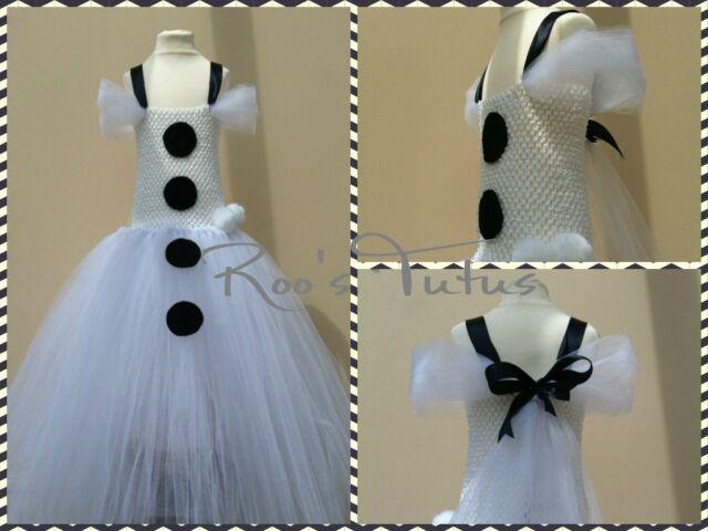 Handmade Disney Frozen Olaf inspired tutu dress costume. Party,Princess dress up