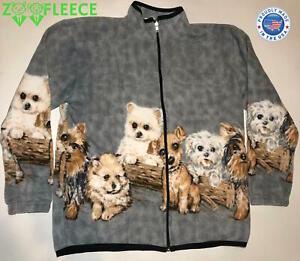 Details zu ZooFleece Winter Gray Puppy Dogs Jacket Ugly Sweater Animal Women's Gift S 3X