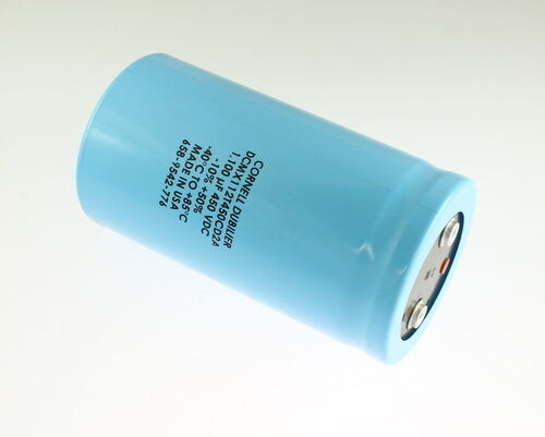 1x 1100uF 450V Large Can Electrolytic Aluminum Capacitor mfd DC 85C DCMX112T450C