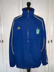 Offizielle-UKRAINE-OLYMPIC-TEAM-Zip-Jacke-Windbreaker-Retro-Vintage-blau-selten-XL
