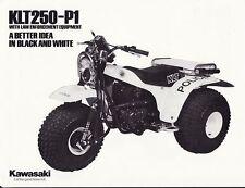 1984 KAWASAKI KLT250-P1 POLICE 3-WHEELER ATV BROCHURE -KLT 250-PRAIRIE-KLT250