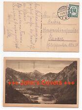 1935 GERMANY Cover FÜSSEN to HANAU Postcard SG560 Mountain View