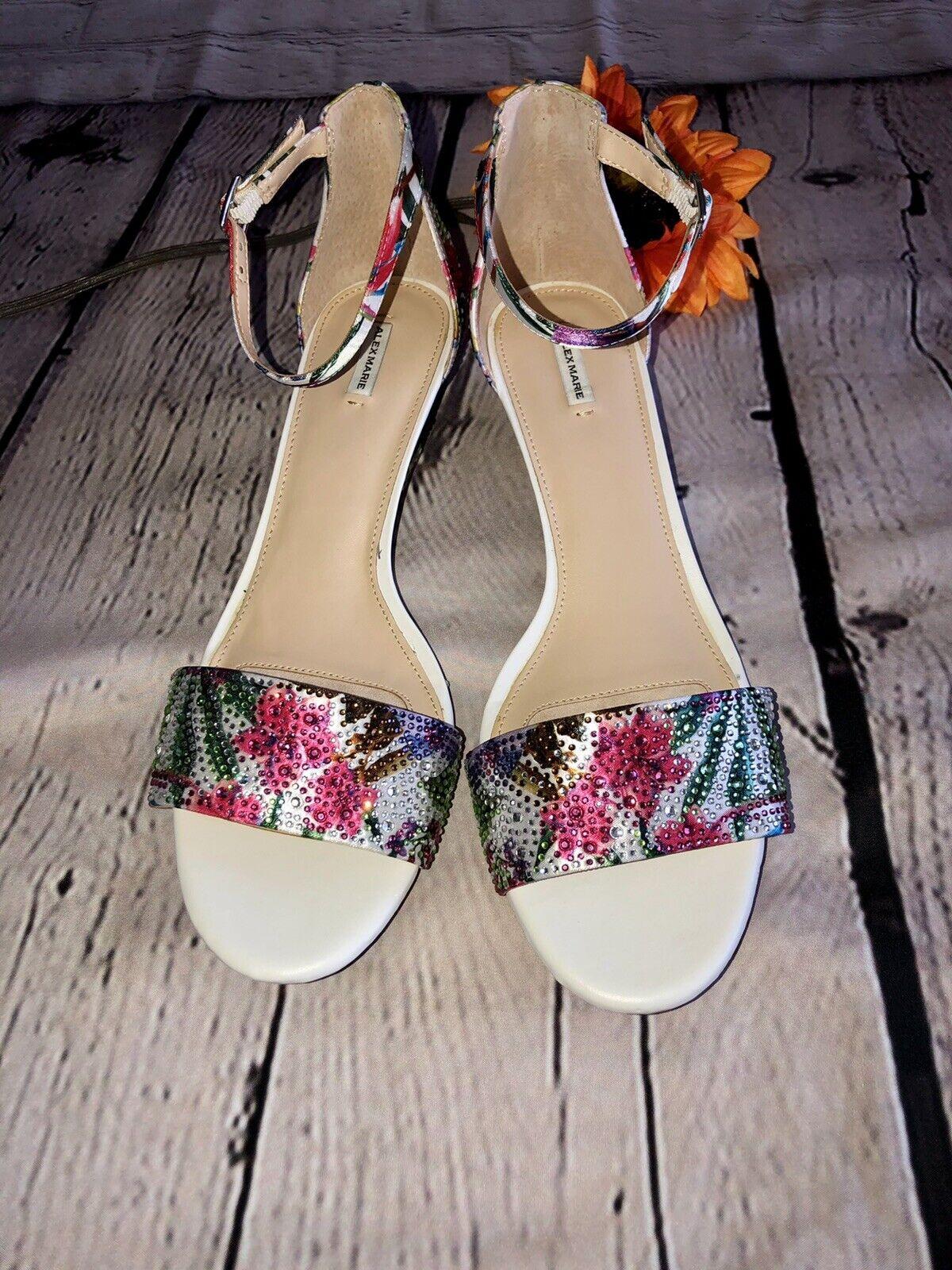 Alex Marie Mairithree Womens 12 M Sandals Heels Pink purple Jewels Wedding NIB