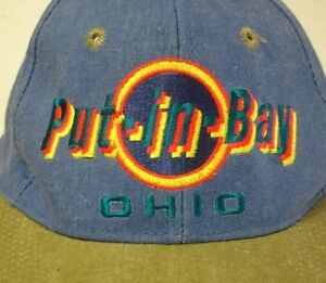 Details about PUT-IN-BAY vtg baseball cap 1980s logo embroidery South Bass  Island snapback hat 53bd506f8a4
