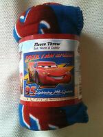 Open Item Lightning Mcqueen Cars Disney Fleece Blanket Throw Rare Item
