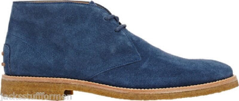 Tod's Men's Chukka Boots Size US 11 M (EU 10) bluee Suede Ankle Desert shoes  625