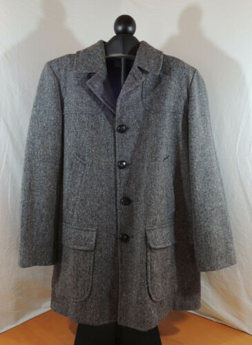 Pendleton Wool Mens 44 Long Grey Tweed Coat Wool U