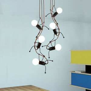 Image Is Loading Modern Metal Little Men Pendant Originality Chandelier Light