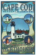 Cape Cod Massachusetts Historic Lighthouses, Chatham Light etc - Modern Postcard