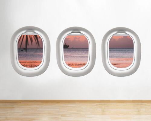 Wall Stickers SUMMER PARADISE Cruise Sun Fenêtre Autocollant 3D Art Vinyle Pièce G221