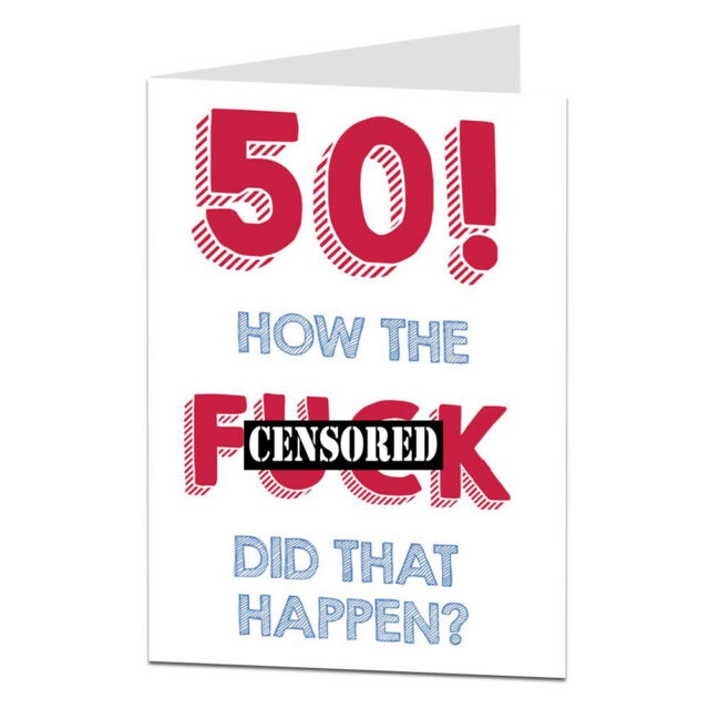 50th Happy Birthday Card For Men Women Sister Husband Wife Funny Well Old Joke