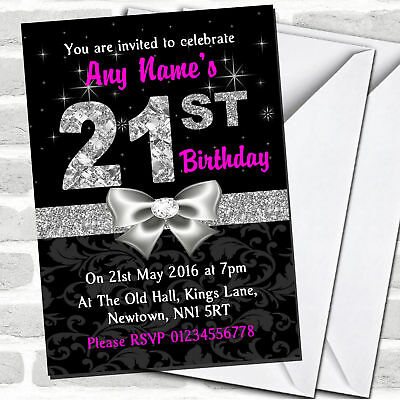 Silver /& Black Masquerade Ball Personalised Party Thank You Cards