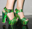 Glitter Women/'s Chunky High Heels Open Toe Buckle Strap Platform Sandals Shoes