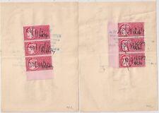 TIMBRES FISCAUX Bord de Feuille sur 2 QUITTANCES OBERNAI BAS RHIN.1974.  L942