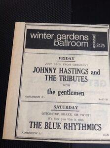 F9-1-Ephemera-1965-Advert-Winter-Gardens-Cornwall-Johnny-Hastings-amp-The-Tributes