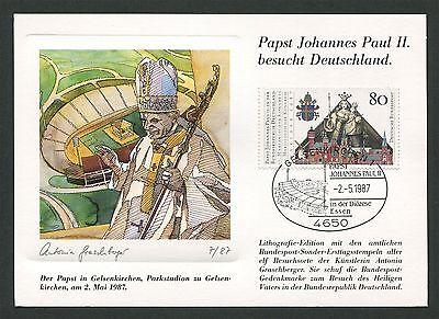 Freundschaftlich Brd Mk 1987 Papst-besuch Gelsenkirchen Maximumkarte Pope Maximum Card Mc M63 Architektur