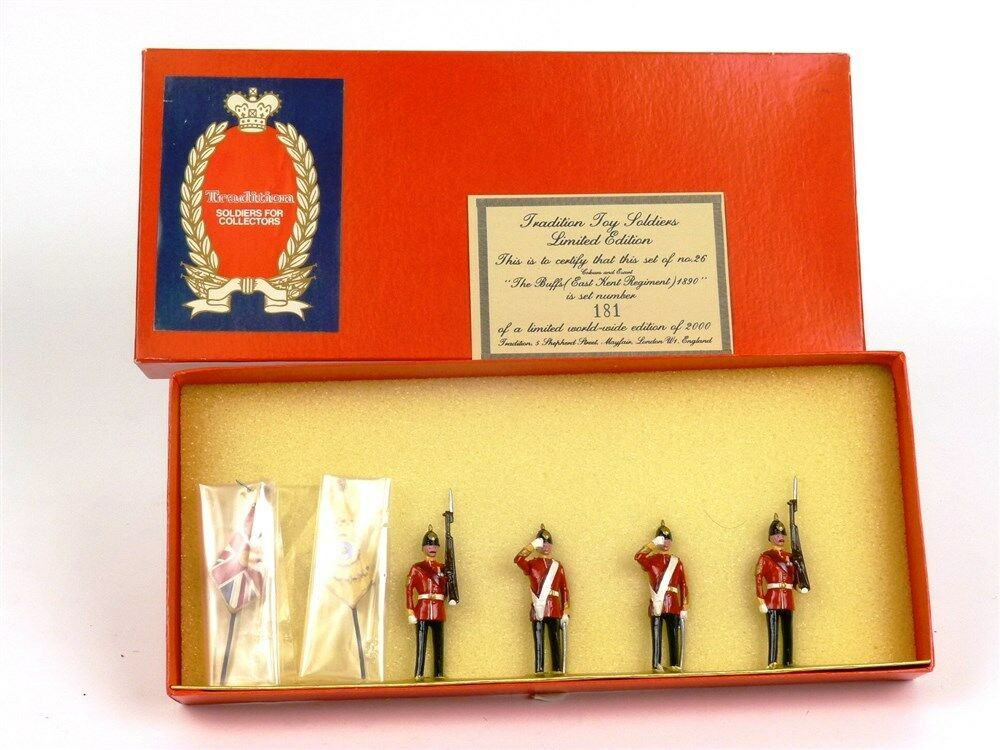 Tradition Soldiers Set 26 The blueffs Colours And Escorts 6 Piece Limited Edition