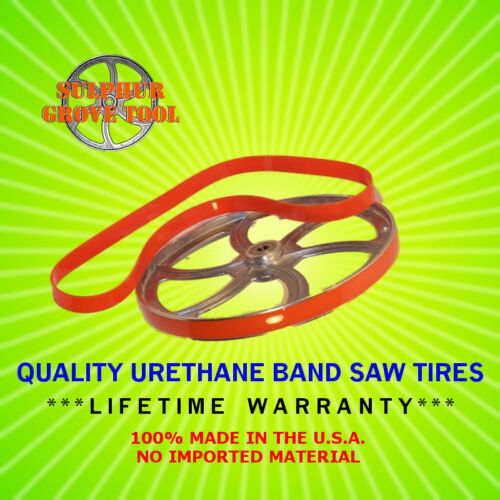 """2 Crowned Urethane Band Saw Tires 10/"""" x 1/"""" MPN CT101002-2"""