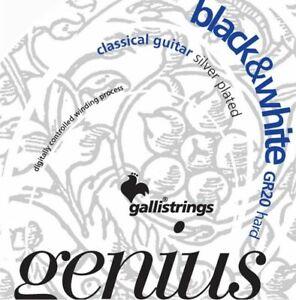 black nylon strings Galli GR20 black/&white Gallistrings schwarze Nylon Saiten