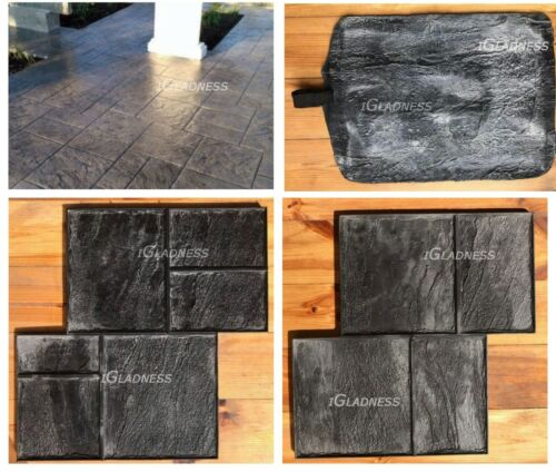 3pcs Concrete texture stamping RUBBER mats printing on cement Old city /& Sand