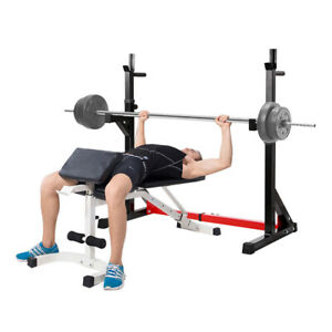 Phenomenal Details About Ollieroo 40 64Adjustable Barbell Rack Dip Stand Gym Family Fitness Squat Rack Bralicious Painted Fabric Chair Ideas Braliciousco