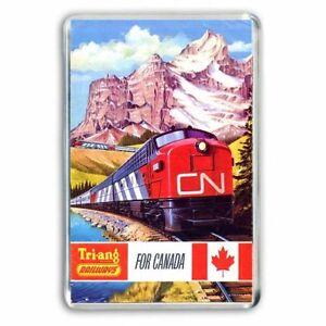 TRI-ANG (Triang) TRAINS CANADIAN ADVERT ARTWORK JUMBO Fridge / Locker Magnet