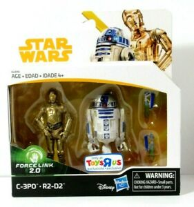 Star Wars Force Link 2.0 Exclusive Action Figure Pack-C-3PO /& R2-D2 RARE!