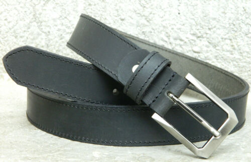 Calyx Real Leather Men/'s Belt Casual semi Formal wide st Strap pin buckle 35mm
