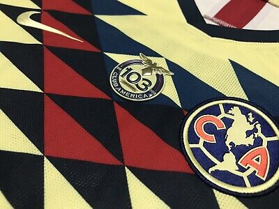 Details about  /Club America Authentic Anniversary Patch 103 years Aniversario Club America 103