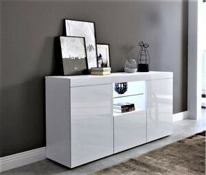 Extra Large L135d35h91 Tv Cupboard Unit Sideboard White