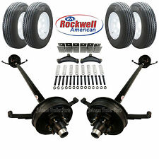 Tandem 5200 Lb Electric Brake Trailer Axle Kit Includes Trailer Tires Amp Wheels