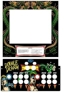 Details about Double Dragon Arcade 1up Monitor Bezel and Control Panel  Overlay