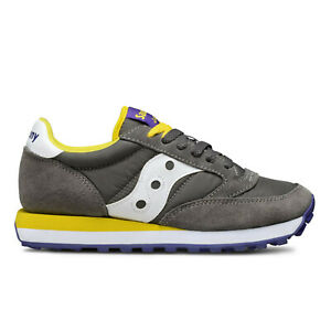 Details about Saucony Jazz Original 1044 279 Grey Yellow Sneakers New Collection Charcoal show original title