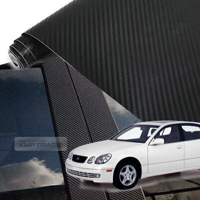 Fits Ford Escape 2008-2012 Real Carbon Fiber Black Window Pillar Posts 6PCS