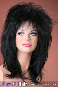 Punk Rocker Tina Turner Wig Colour Choices Black Brown