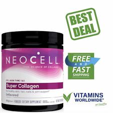 NEOCELL SUPER POWDER Collagen Type 1&3 Hair Skin Joints Bones Nails 7 Oz