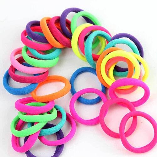 50 Pcs Mädchen Haarband Krawatten Seil Ring Elastisches Pferdeschwanz Halter