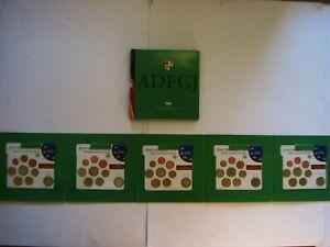 BRD  5 x Euro KMS 2007 A, D, F, G, J + jeweils 2 Euro Gedenkmünze  im Folder